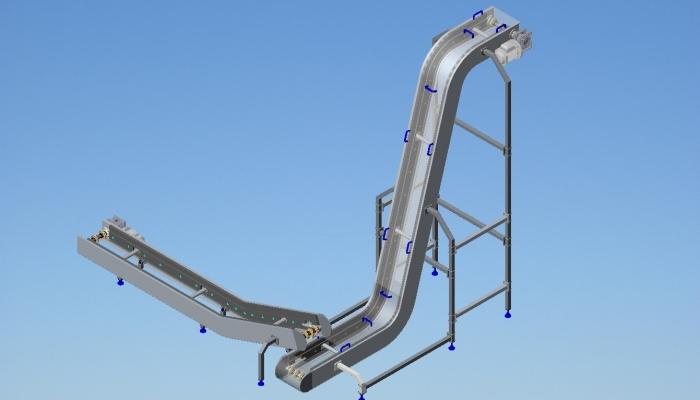 mcservice-modena-progettazione-meccanica-consulenza-tecnica-divisione-alimentare-Trasportatori con facchinetti