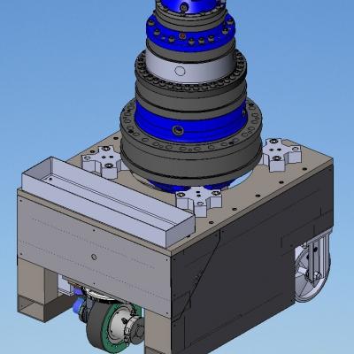 Carrelli per asservimento linee di montaggio per prodotti standard e/o speciali Carrelli motorizzati per spostamento riduttore lungo le linee di montaggio Sistemi movimentazione logistica pezzi in genere